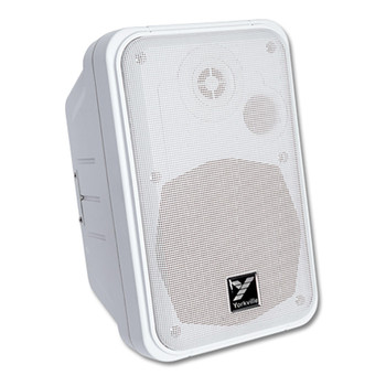 Yorkville C120W Coliseum Mini Series White Wall Mount Speaker 100 Watts front view