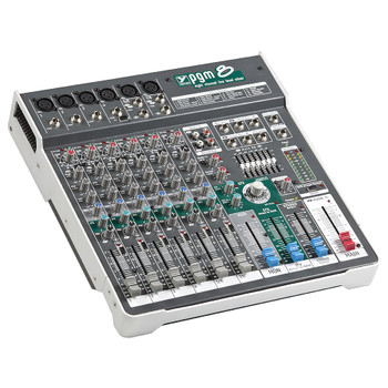 Yorkville PGM8 Passive 8 Channel Compact Mixer angled view