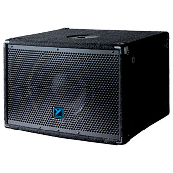 Yorkville YX10SP 250 watt 10 inch powered subwoofer angled view