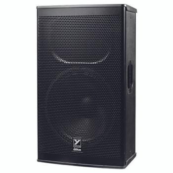 """Yorkville EF15P Elite 1,200 Watt Powered 15"""" Speaker angled view"""