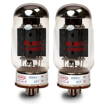 """KT88SELECTED Matched Pair of KT88 Tubes - By """"Ruby Tubes"""""""