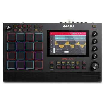 "AKAI MPC Live II DAW with Software Integration, 16 Pads, 7"" Multitouch Display, Built-in Speakers"