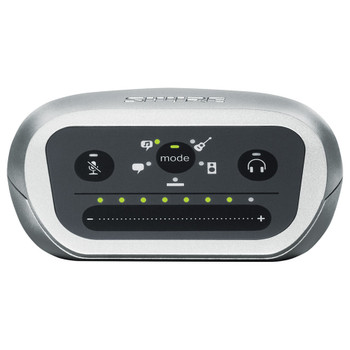 SHURE MVi/A-LTG MVi Digital Audio Interface + USB & Lightning Cable front