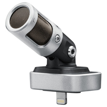 SHURE MV88/A MV88 iOS Digital Stereo Condenser Microphone close up at angle