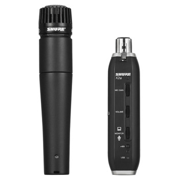 SHURE SM57-X2U Cardioid Dynamic Microphone with X2U XLR-to-USB Signal Adapter. EMI Audio