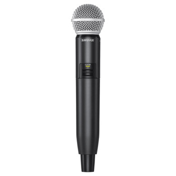 SHURE GLXD2/SM58-Z2 Handheld Transmitter with SM58® Cardioid Microphone. EMI Audio