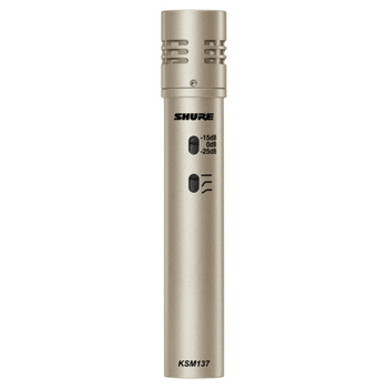 SHURE KSM137/SL Cardioid Studio Condenser Microphone (Champagne). EMI Audio