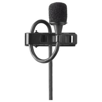 SHURE-MX150B/O-XLR-condenser-lapel-mic-omnidirectional-preamp-black-XLR-connector. EMI Audio