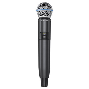 SHURE GLXD2/B58-Z2 Handheld Transmitter with Beta 58 Microphone. EMI Audio