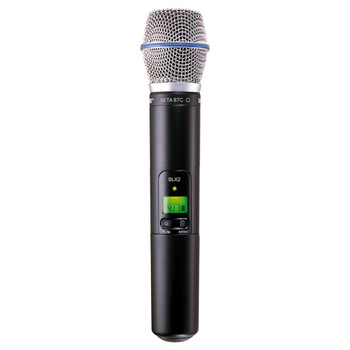 SHURE SLX2/BETA87C-J3 Handheld Transmitter with BETA87C Microphone. EMI Audio