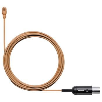 SHURE-TL47C/O-MTQG-cocoa-subminiature-Lav-Mic. EMI Audio