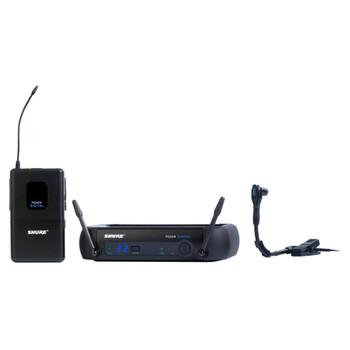 SHURE PGXD14/BETA98H-X8,  PGXD4 receiver, PGXD1 bodypack transmitter, WB98H/C microphone. EMI Audio