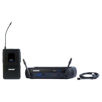 SHURE GLXD14/93-Z2 Lavalier System with GLXD4 Wireless Receiver, GLXD1 Bodypack Transmitter and WL93 Lavalier Microphone. EMI Audio