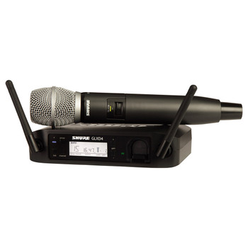 SHURE GLXD24/SM86-Z2 wireless Vocal System with GLXD4 Wireless Receiver, GLXD2 Handheld Transmitter with SM86 Microphone. EMI Audio