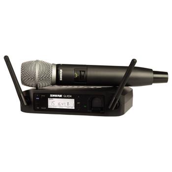 SHURE GLXD24/SM86-Z2 wireless Vocal System with GLXD4 Wireless Receiver, GLXD2 Handheld Transmitter with SM86 Microphone. EMI Audio