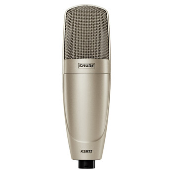 SHURE KSM32/SL Cardioid Studio Condenser Microphone–Studio Model (Champagne). EMI Audio