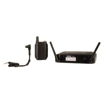 SHURE GLXD14/B98-Z2 Instrument System with GLXD4 Wireless Receiver, GLXD1 Bodypack Transmitter and WB98H/C Microphone (SB902 Battery included). EMI Audio