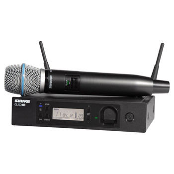 SHURE Vocal System with GLXD4 Wireless Receiver, GLXD2 Handheld Transmitter with BETA 87A Microphone (SB902 Battery included) EMI Audio