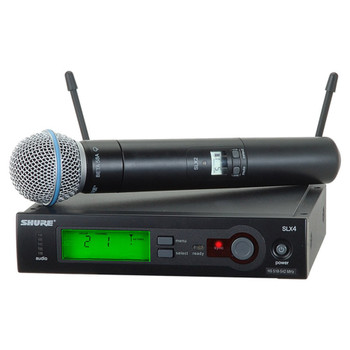 SHURE SLX24/BETA58-H19 Includes SLX2/BETA58 Handheld Transmitter with BETA58 Microphone - Overview