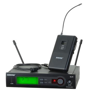 SHURE SLX14/85 Includes SLX1 and WL185 Microflex® Cardioid Lavalier Microphone. EMI Audio