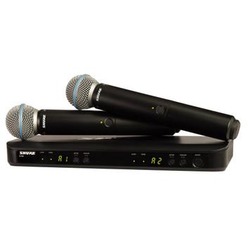 SHURE BLX288/BETA58 BLX288 DUAL BETA58 VOCAL SYSTEM - EMI Audio