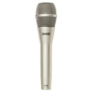 SHURE KSM9/SL Dual Pattern (Cardiod/Supercardiod) Condenser Handheld Vocal Microphone (Champagne). EMI Audio