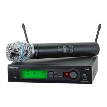 SHURE SLX24/BETA87A Includes SLX2/BETA87A Handheld Transmitter with BETA87A Microphone. EMI Audio