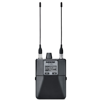 SHURE P10R Diversity Bodypack Receiver front view. EMI Audio
