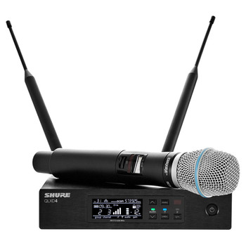 SHURE QLXD24/B87A-X52 Beta 87A Vocal System. Frequency Band Version: X52 EMI Audio