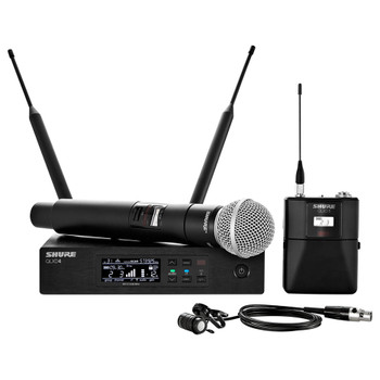 Bodypack and Vocal Combo System with WL185 and SM58 frequency band V50 EMI Audio.