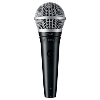 SHURE PGA48-LC Cardioid dynamic vocal microphone - less cable. EMI Audio