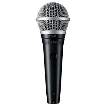 SHURE PGA48-QTR Cardioid dynamic vocal microphone - XLR-QTR cable.. EMI Audio
