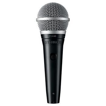 SHURE PGA48-XLR Cardioid dynamic vocal microphone - XLR-XLR cable. EMI Audio