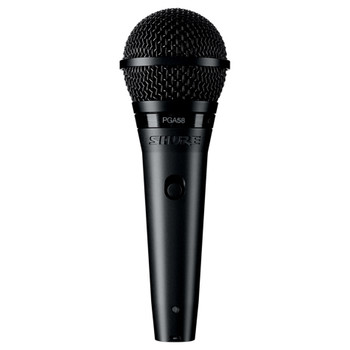 SHURE PGA58-LC Cardioid dynamic vocal microphone - less cable. EMI Audio