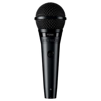 SHURE PGA58-QTR Cardioid dynamic vocal microphone - XLR-QTR cable. EMI Audio