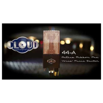 Cloud 44-A Ribbon Microphone with logo and description Active Ribbon Mic Voice / Music Switch