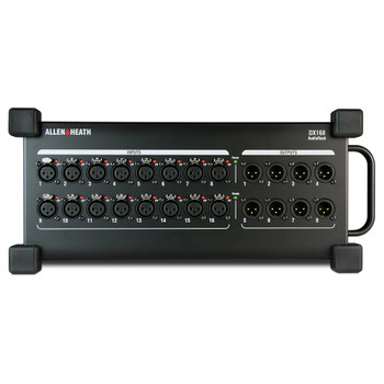 ALLEN & HEATH DX168 16 x 8 Stage Box with dLive 96kHz mic preamps front view