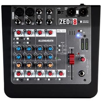 ALLEN & HEATH ZEDI8 2 Mic/Line mixer front view