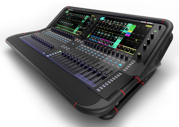 ALLEN & HEATH AVANTIS 96kHz FPGA processing, 64 Input Channels angled view