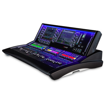 "ALLEN & HEATH DLIVE-S5 dLive S Class 28 Fader Surface, Dual 12"" Touchscreens right view"