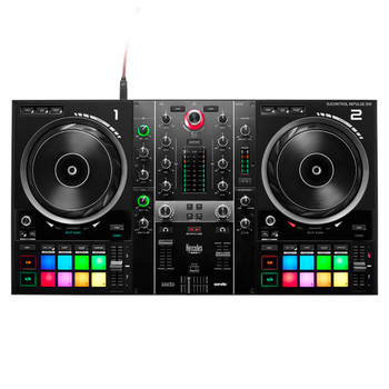 Hercules DJControl Inpulse 500 2-Channel DJ Controller surface view from directly above
