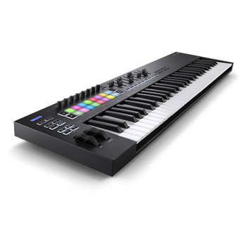 NOVATION Launchkey 61 [MK3] MIDI Keyboard Controller front left angle
