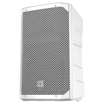 """White version of Electro-Voice ELX200-10P-US 10"""" 2-way powered speaker front view"""