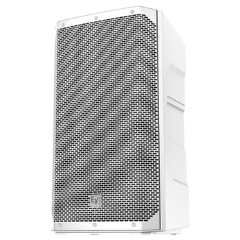 """White version of Electro-Voice ELX200-12P-US 12"""" 2-Way powered speaker front"""