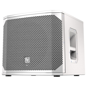 """White Electro-Voice ELX200-12SP-US 12"""" powered subwoofer front"""