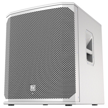 """White Electro-Voice ELX200-18SP-US 18"""" powered subwoofer front"""