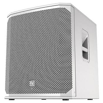 "Electro-Voice ELX200-18S-W 18"" passive subwoofer, white, front"