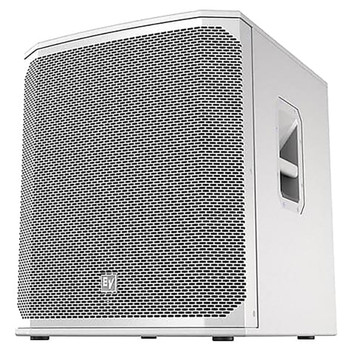 "Electro-Voice ELX200-18S-W 18"" passive subwoofer, white, front"