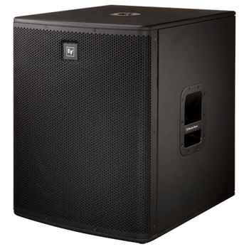 Electro-Voice ELX118P-120V Powered Subwoofer front angle