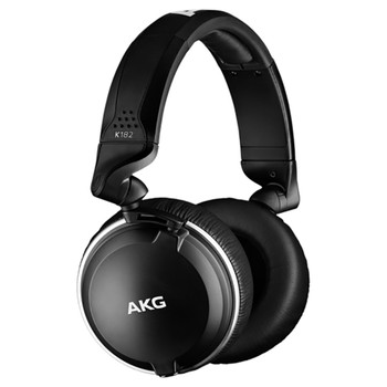 AKG K182 Professional closed-back monitor headphones angle view